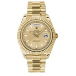 Rolex Day-Date II Champagne Index Dial Yellow Gold President 218238 CX