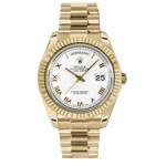 Rolex Day-Date II White Dial Automatic Yellow Gold President 218238 WRP
