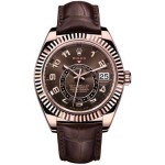 Rolex Sky Dweller Rose Gold Mens Watch 326135