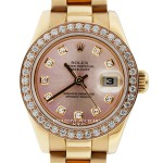 Rolex Datejust 18k Rose Gold President Ladies Watch 179175